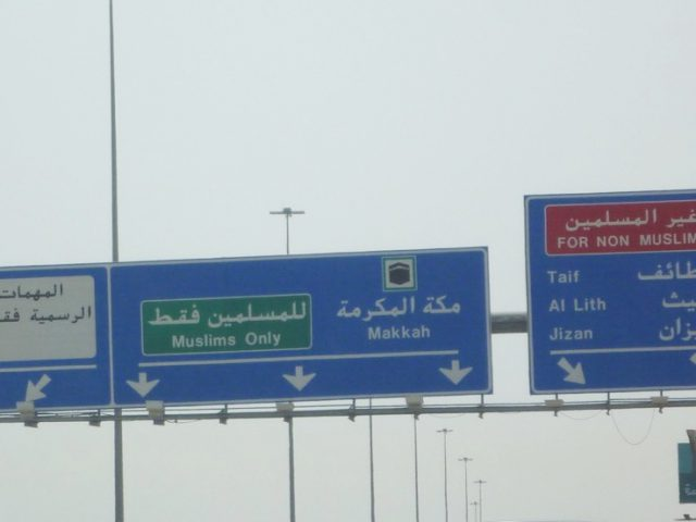 On the way to Mekkah