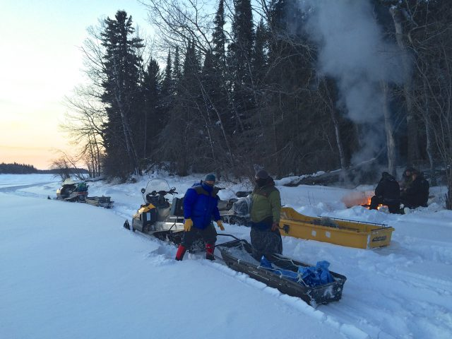Ice Roads Canada – warm up after fishing trip