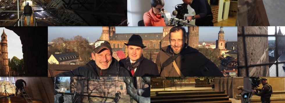 """Drehbeginn für die Terra-X-Produktion """"1000 Jahre Wormser Dom"""""""