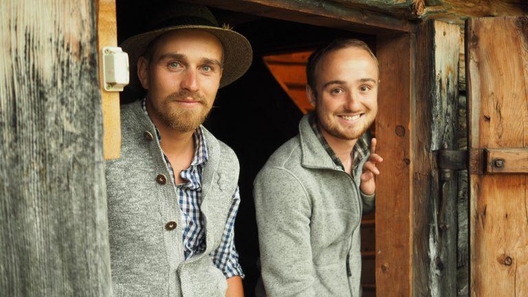 Bergbrenner Max Irlinger und Lukas Schöbinger