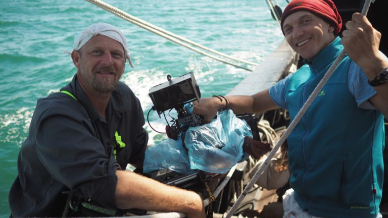 Terra X – Magellan: DOP Sebastian Hattop and camera assistant Thomas Wozny