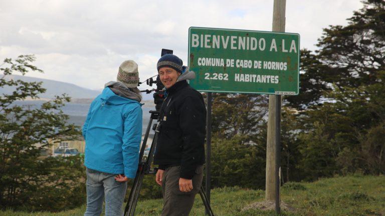 "Mit DOP Reiner Bauer am Kap Horn, Patagonien ""Sir Francis Drake"""