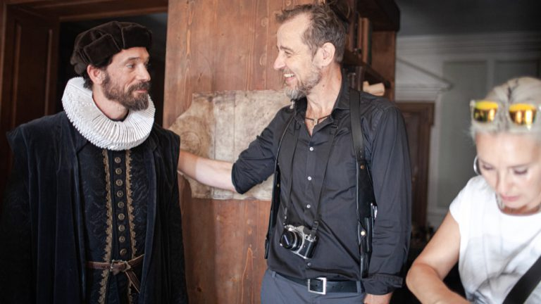 Preparing a sceen with main actor Markus Klauk aka Ferdinand Magellan