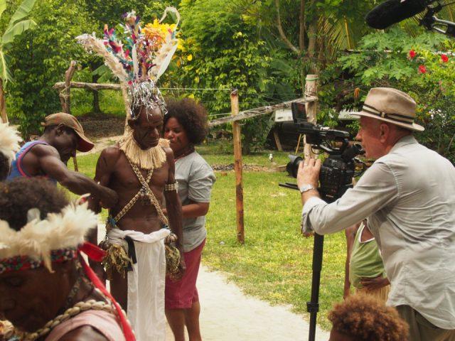 Mit DOP Pieter de Vries in Papua Neuguinea