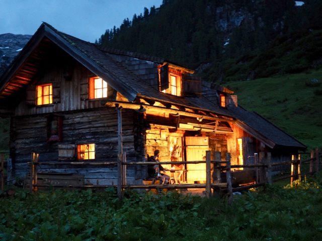 Feierabend auf der Brennerhütte