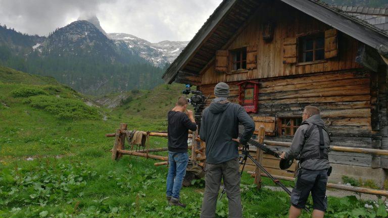 Dreharbeiten an der Brennerhütte am Funtensee